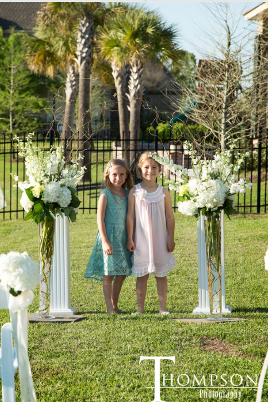 joanna u0027s beautiful backyard wedding attention to details